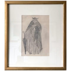 Framed Figurative Drawing by Robert Henri Ashcan School