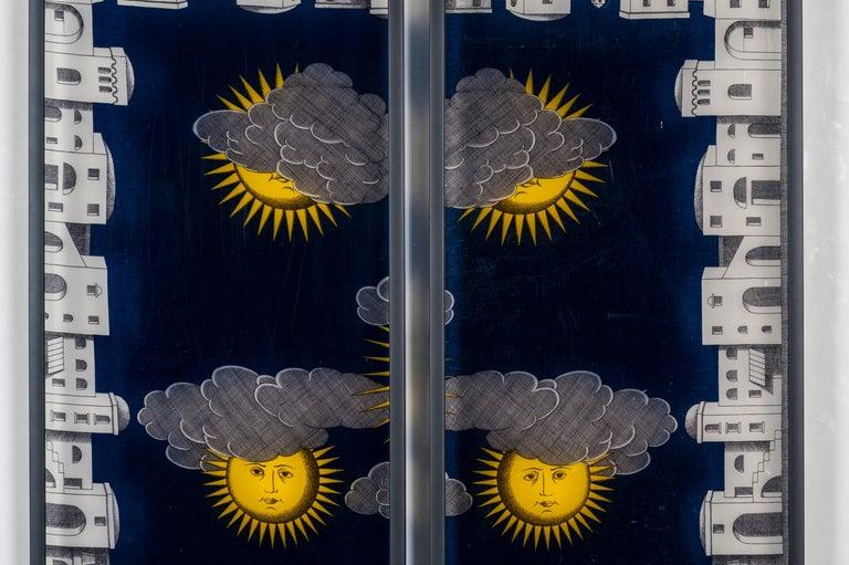 Mid-Century Modern Framed Fornasetti Painted Panels For Sale