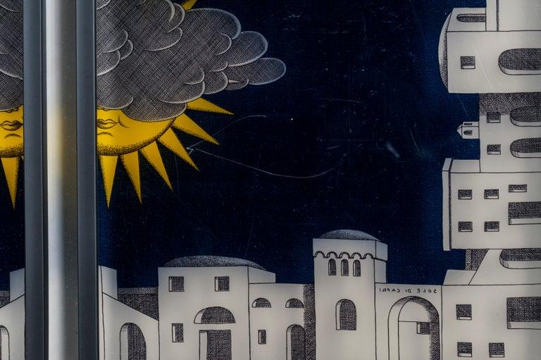 Italian Framed Fornasetti Painted Panels For Sale