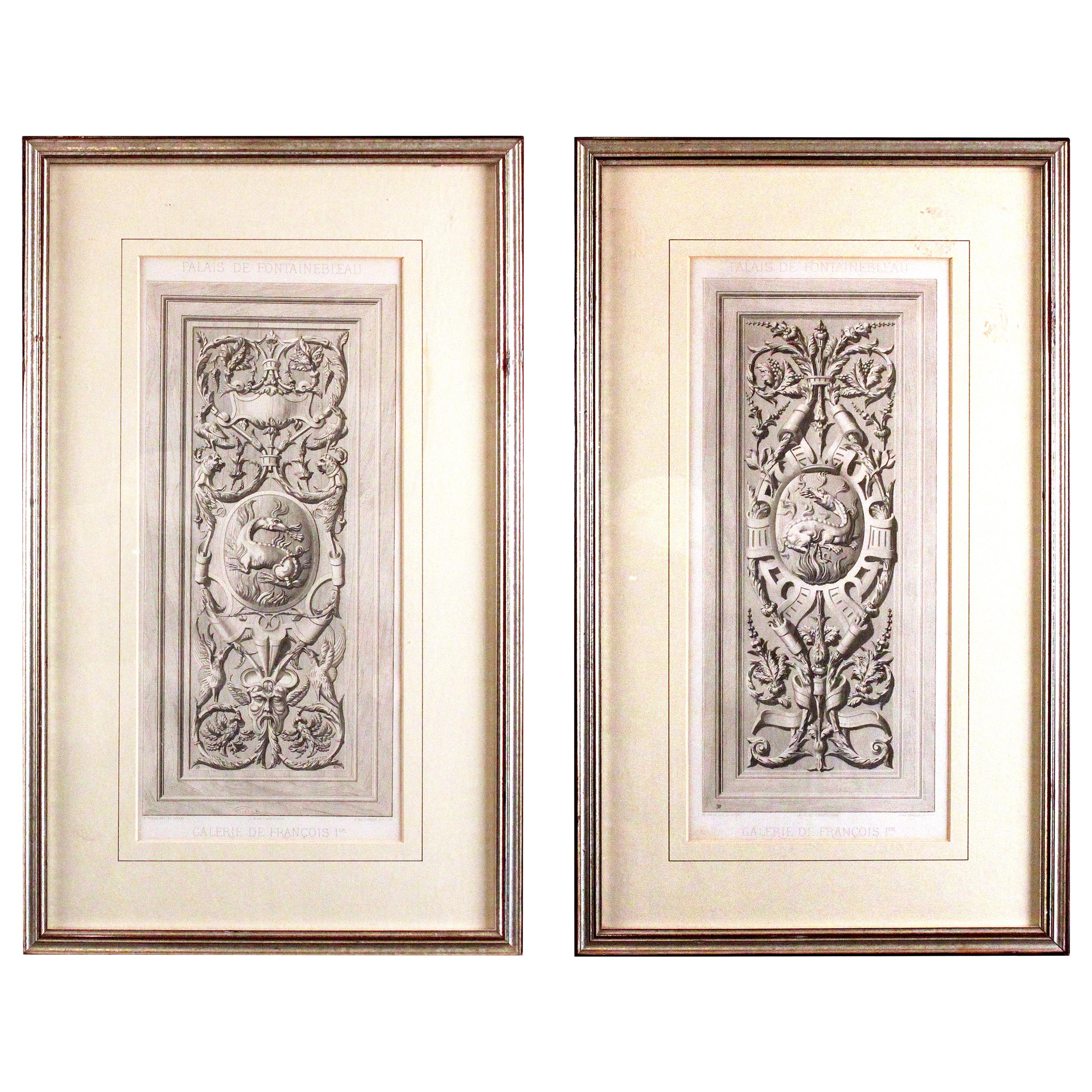 Framed French Gresaille Decorative Engravings