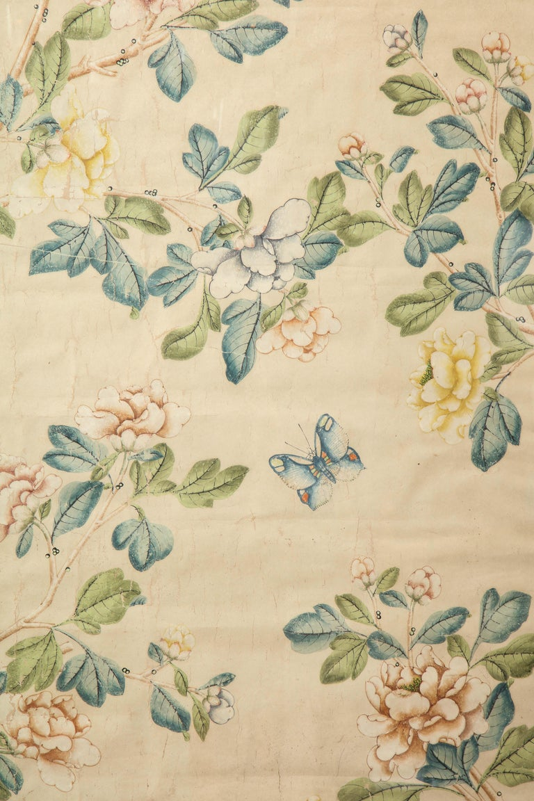 Framed Gracie Wallpaper Panel In Good Condition For Sale In New York, NY