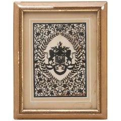 Framed Handcut Heraldic Shield Design