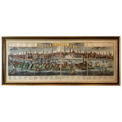 "Framed Hand Watercolored Print of Venice-  ""Venetia"""