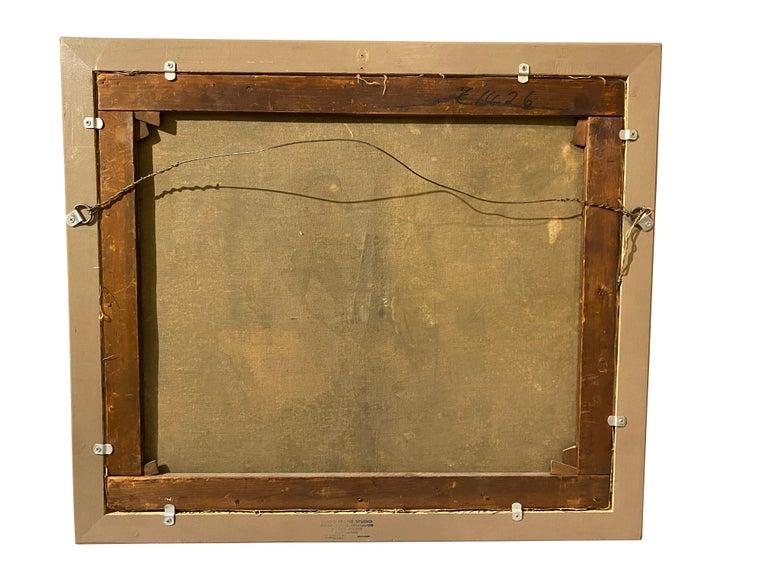 19th Century Framed Italian Capriccio Oil on Canvas For Sale