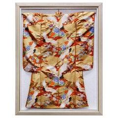 Framed Vintage Japanese Ceremonial Wedding Kimono