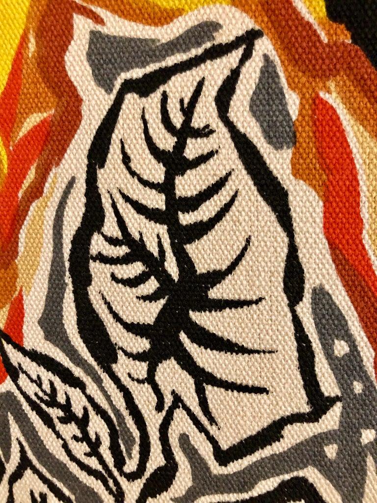 Mid-20th Century Framed Jean Lurcat Silkscreen Tapestry For Sale