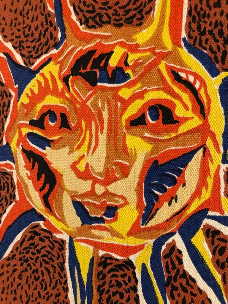 Canvas Framed Jean Lurcat Silkscreen Tapestry For Sale