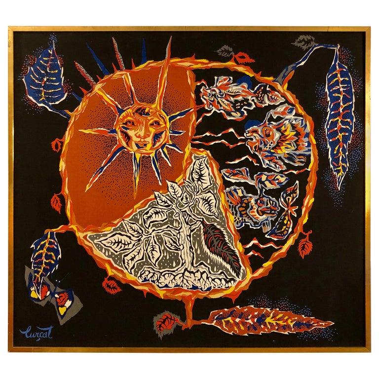 Framed Jean Lurcat Silkscreen Tapestry For Sale