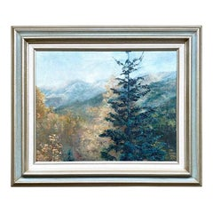 """Framed Landscape Oil on Canvas Painting Titled """"Ouray"""", Shirley Petersen, 1981"""