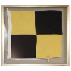 Framed Letter L Maritime Signal Flag
