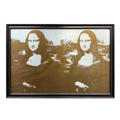 Framed Limited Edition 'Two Golden Mona Lisas' Lithograph
