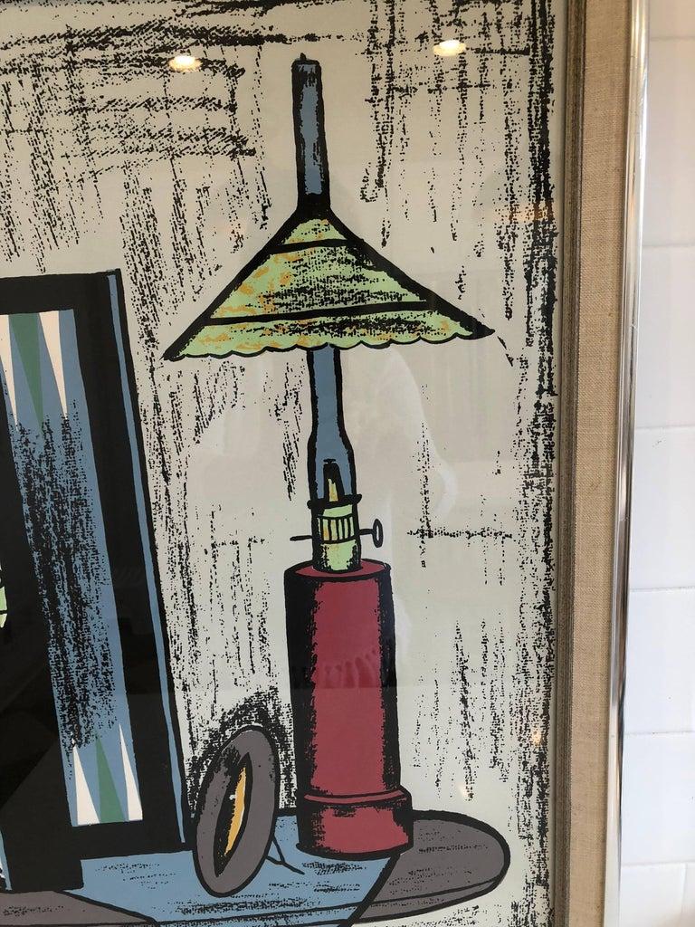 Modern Framed Lithograph by Bernard Buffet For Sale