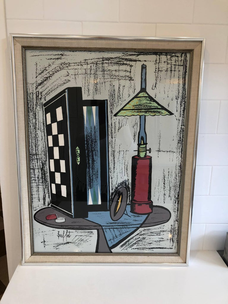 Framed Lithograph by Bernard Buffet In Excellent Condition For Sale In Geneva, IL