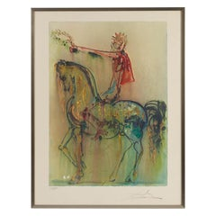 Framed Lithograph by Dali, Signed and Numbered, 20th Century