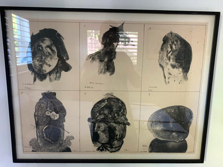 Modern Framed Lithograph by Jose Luis Cuevas Small Edition For Sale
