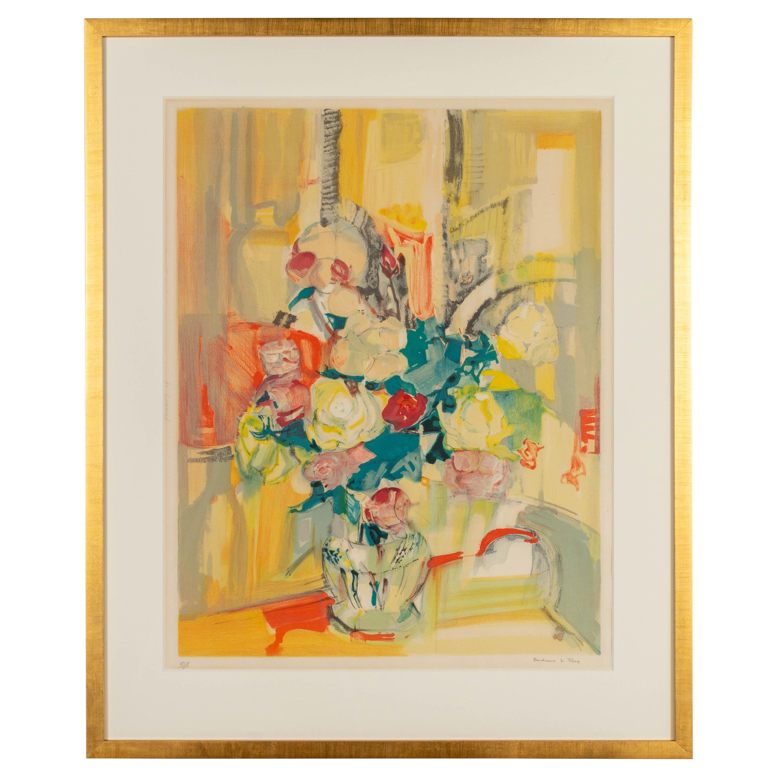 Framed Lithograph by Parisian Artist Le Pho