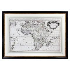 Framed Map of Africa by Hubert Jaillot