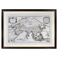 Framed Map of Asia by Hubert Jaillot