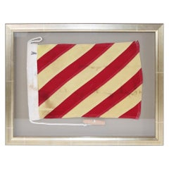Framed Maritime Signal Flag of Letter A