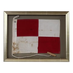 Framed Maritime Signal Flag of Letter U