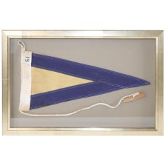 Framed Maritime Signal Flag of Substitute 1