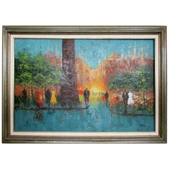 Framed Modern Painting by T. Williams