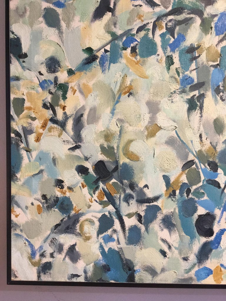 Acrylic Framed Multicolored Abstract Painting, Signed by Artist For Sale