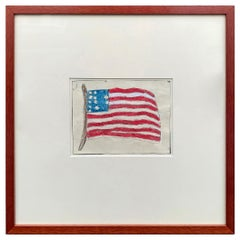 Framed Naive American Flag Collage