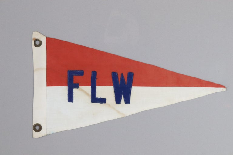 Stitched cotton yacht burgee with