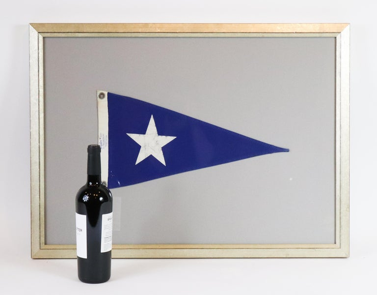 Framed Nautical Pennant In Good Condition For Sale In Norwell, MA