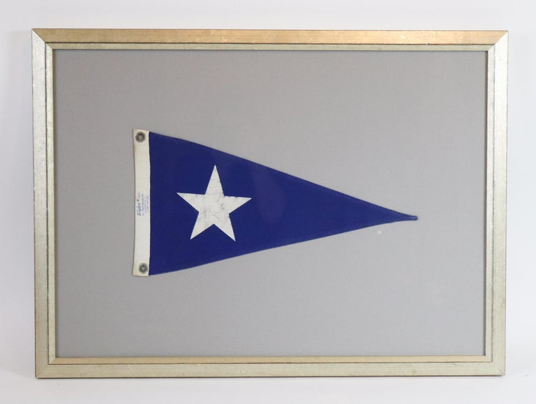 20th Century Framed Nautical Pennant For Sale
