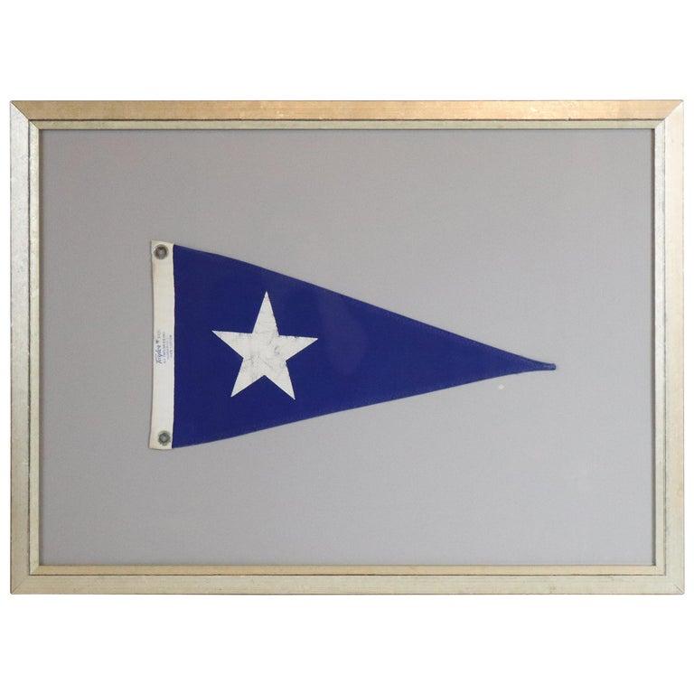 Framed Nautical Pennant For Sale