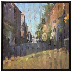 "Framed Oil on Canvas ""Aggregate"" Savannah, GA Streets Scene, Jeff Markowsky"