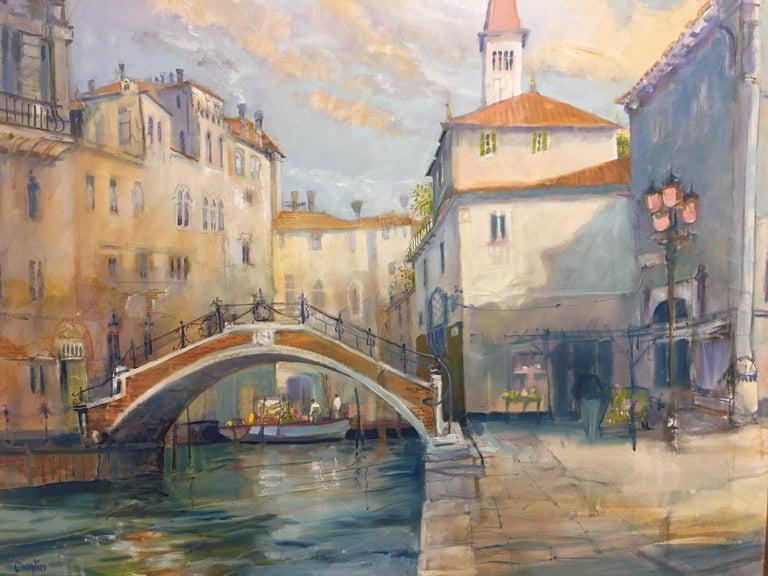 Modern Framed Oil on Canvas