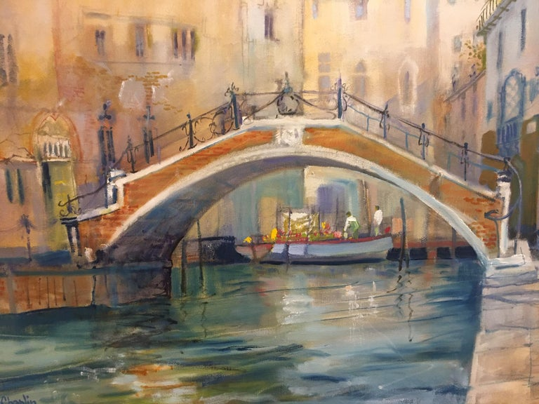 English Framed Oil on Canvas
