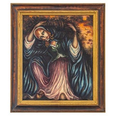 Framed Oil on Canvas by Hélène Perdriat, circa 1965