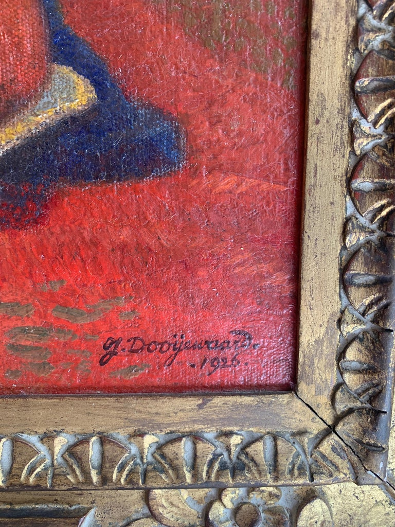 Framed Oil on Canvas Jacob Dooijewaard, 1926 In Good Condition For Sale In Los Angeles, CA
