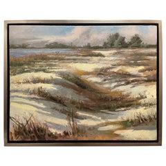"Framed Oil on Canvas ""Jacqueline's Dream"" Sand Dunes, Plein Air, Jeff Markowsky"
