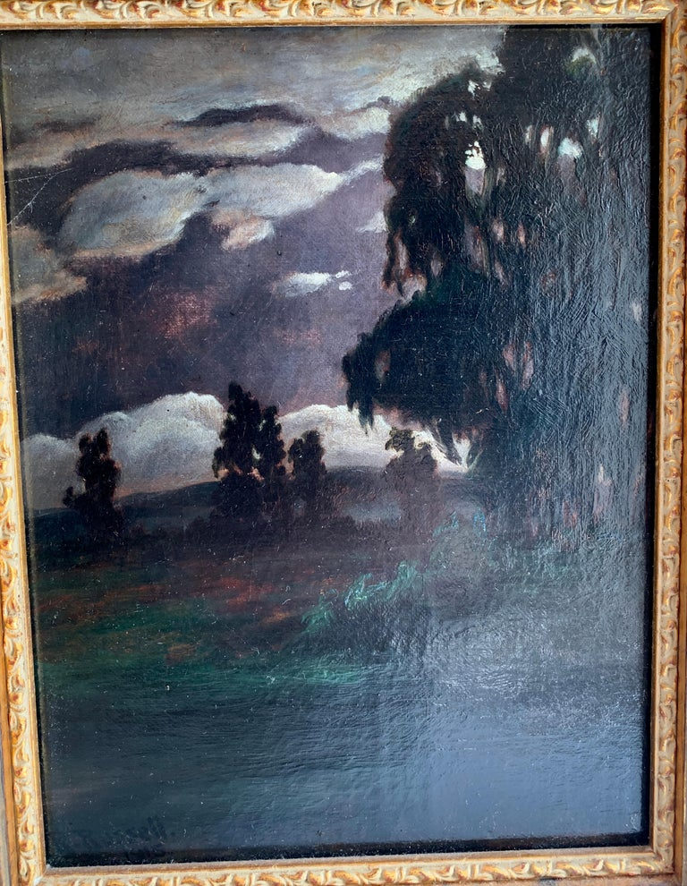 20th Century Framed Oil on Canvas Landscape by R. Russell For Sale