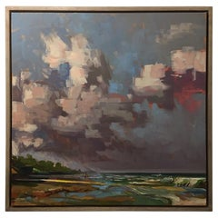 "Framed Oil on Canvas ""Longanimity"" Beach Scene, Jeff Markowsky"