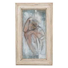 Framed Oil on Canvas Painting of a Child by Mickey Pfau 1990s