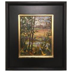 "Framed Oil on Canvas Plein Air ""Bonaventure"", Jeff Markowsky"