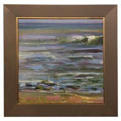 "Framed Oil on Canvas Plein Air ""Matanzas #2"" Beach Scene, Jeff Markowsky"