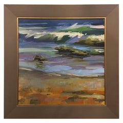 "Framed Oil on Canvas Plein Air ""Matanzas #3"" Beach Scene, Jeff Markowsky"