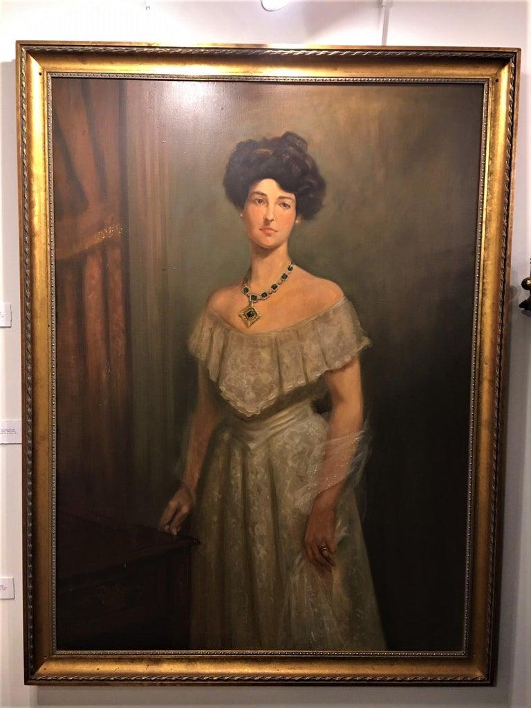 Large framed oil on canvas