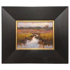 "Framed Oil on Canvas ""Study"" Marsh Scene, Jeff Markowsky"