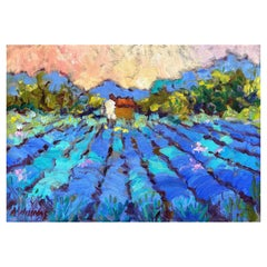 """Framed Oil on Canvas """"The Right Lavender"""" by Alice Williams"""