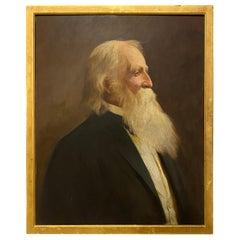 Framed Oil on Panel Portrait of a Distinguished Gentleman