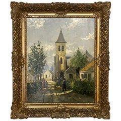 Framed Oil Painting by Felix de Boeck, circa 1920s