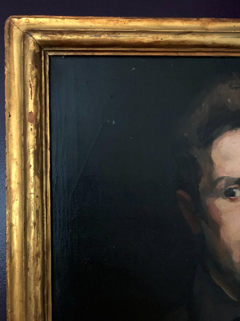 20th Century Framed Oil Painting by George Wesley Bellows For Sale